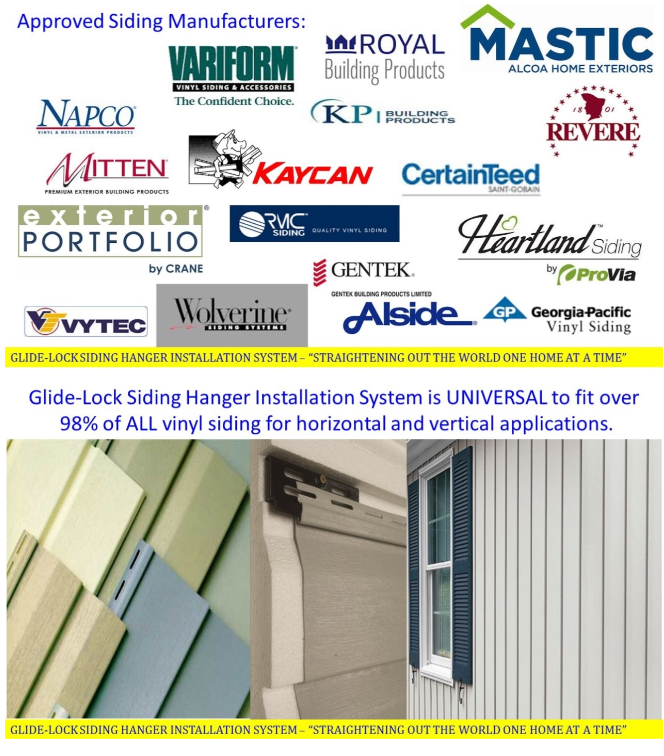 Glide Lock Approved Siding Products
